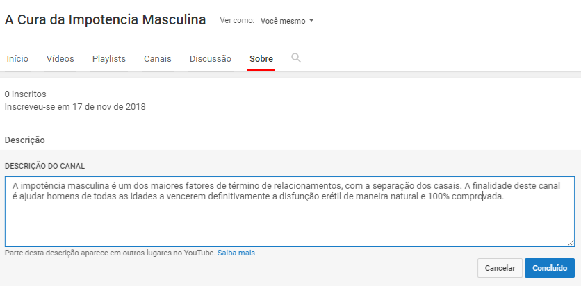 youtube sobre