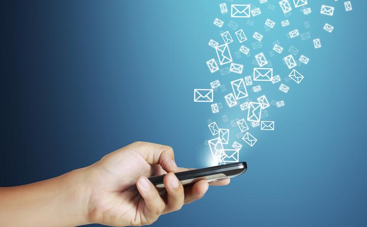 email markertin pelo celular