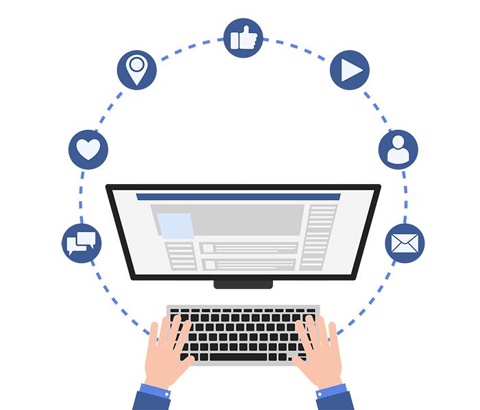 facebook marketing computador